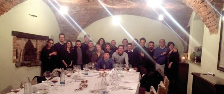 Cena aziendale Orthosystem Torino Natale 2016. Siamo così: dai 25 ai 60. Completi!